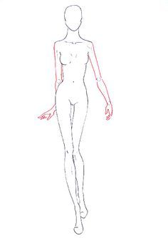 Front view fashion figure template for designing fashion sketches     How to draw fashion figure walking for fashion design