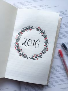 "studyologist: "" 01.02.16 // I love my new bullet journal. Happy New Year everyone! """