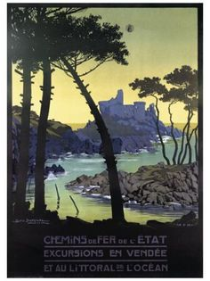 Vintage French Fouras Railway Poster A3//A2 Print