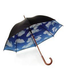 sateellakin on sininen taivas. Cool Umbrellas, Umbrellas Parasols, Rain Umbrella, Under My Umbrella, Fancy Umbrella, Blue Umbrella, Magritte, Singing In The Rain, Quirky Gifts