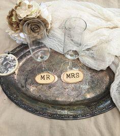 DIY wedding Rustic Wood Slice Wooden Tag by WeddingGalleryDesign