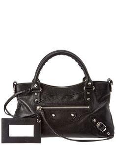 Balenciaga Classic Silver First Leather Shoulder Bag