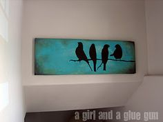 Birds on canvas