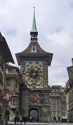 Unusual Clocks, Cool Clocks, Tower Clock, Switzerland Bern, Grandfather Clocks, Literature Books, Street Lamp, Telling Time, Niqab