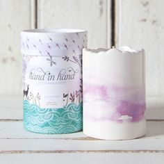 Lavender scented soy wax candles by Hand in Hand. The company donates one bar of soap and one month of clean water to help save a child's life for each product sold. We love their mission as much as these beautiful products.  #americanmadeebaysweeps #americanmadeebaysweeps