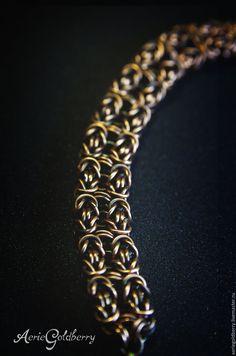 Купить или заказать Браслет в интернет-магазине на Ярмарке Мастеров. Медный браслет. Византийское плетение. Запатинирован. Лаком не покрыт. Длина 19 см (возможно отрегулировать индивидуально). Ширин…