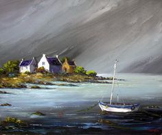 mar_e_avant_l_orage Seascape Paintings, Landscape Paintings, Watercolor Paintings, Chalk Pastel Art, Chalk Pastels, Irish Art, Easy Watercolor, Gouache Painting, Strand