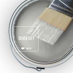 BEHR MARQUEE 5 gal.  MQ2-59 Silver City One-Coat Hide Semi a46b62ac5b