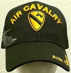 1ST TEAM U.S. ARMY DIVISION HORSE AIR CAVALRY CAV WINGS UNIT INSIGNIA CAP HAT OS #PREMIUMQUALITYHATS #BaseballCap