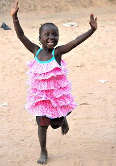 Jubilant girl- The Gambia Little People, Little Ones, Little Girls, Kids Around The World, We Are The World, Precious Children, Beautiful Children, Beautiful Smile, Beautiful People