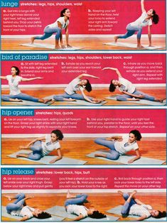 Hip stretches...may help lower back pain.
