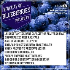 Blueberries for Blood Pressure - Research has shown that bioactive compounds found in blueberries known as anthocyanins protect against high blood pressure