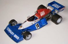 F1 Paper Model - 1975 GP Argentina BRM P201 Paper Car Free Template Download