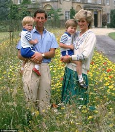 Vintage of Prince Charles, Princess Diana, Princes William and Harry. by marilyn