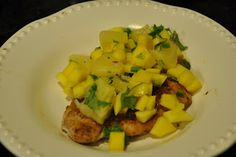 Elizabeth Ann's Recipe Box: Blackened Pork Chops with Pineapple and Mango Salsa