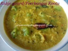 Priya's Virundhu....: Ridge gourd Kootu/Peerkangai Kootu