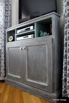 Ana White   Tall Corner Media Console - DIY Projects