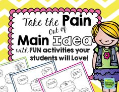 My students are loving these main idea silly webs!! Free!!