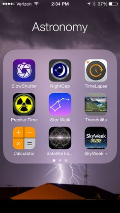 Amateur astronomy - 12 Best iPhone Astronomy and Astrophotography Apps You'll Use Constantly Astronomy Apps, Space And Astronomy, Apps Für Iphone, Best Iphone, Constellations, Space Facts, Applis Photo, Science Facts, Physics Facts