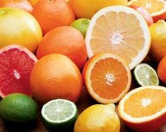 citrus fruits: lemons, limes, and oranges especially.  used for their juice and peels.