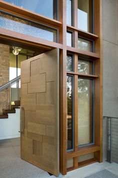 Scroll down to take a look in 15 spectacular front door design you wont find in average home. - March 02 2019 at Modern Entrance Door, Main Entrance Door Design, Front Door Design, House Entrance, Entrance Doors, The Doors, Patio Doors, Single Main Door Designs, House Main Door Design