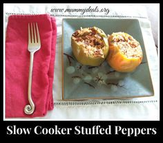 Love stuffed peppers? Then why not add them to your #crockpot? Delicious and healthy Slow Cooker Stuffed Peppers from Mummy Deals
