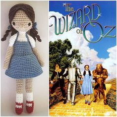 { Somewhere over the rainbow, way up high  There's a land that I've heard of once in a lullaby.  Somewhere over the rainbow, skies are blue  And the dreams that you dare dream, Really do come true... }   #Dorothy #TheWizardOfOz #Crochet #Amigurumi #Doll #AmourFou