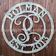 GORGEOUS custom last name/established in date monogram door hanger!! Perfect for Gifts!