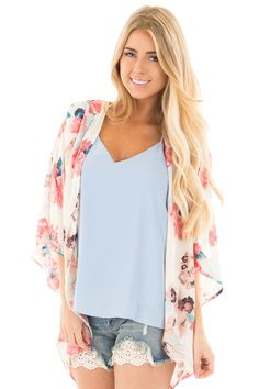 Lime Lush Boutique - Ivory and Blush Floral Print Chiffon Kimono Cardigan, $19.95 (https://www.limelush.com/ivory-and-blush-floral-print-chiffon-kimono-cardigan/)