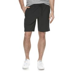 Men's Marc Anthony Slim-Fit Stretch Luxury+ Knit Shorts, Size: 40, Black