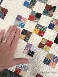 crazy mom quilts: lost in the crowd--the beginning