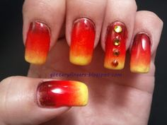 Glittery Fingers & Sparkling Toes: Mish Mash Challenge: Hot!