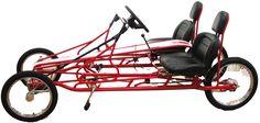Recumbent bike, rhoades car, four wheel bike, 2 person bicycle, pedal car, electric pedal assist bike
