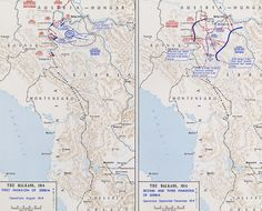 Invasions of Serbia - 1914  Illustrating the Three Invasions of Serbia August-December