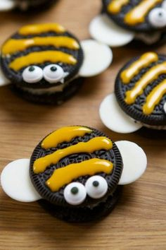 Bienenparty-Essensideen … – Yummy and funny – Bee Party Food Ideas … – Lecker und lustig – Bee Food, Bee Cookies, Bolo Minnie, Best Party Food, Cupcakes, Food Crafts, Creative Food, Kids Meals, Sweet Treats