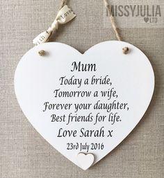 Mutter der Braut Herzen Dankeschön Geschenk von MissyJuliaLtd