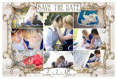 Vintage Save The Date Postcards :) :  wedding diy engagement inspiration invitations Front