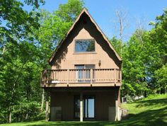 The cabin on Mississippi Ridge sits atop Eagle Mountain overlooking the Mississippi River.