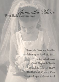 First Holy Communion Photo Invitation, via Etsy.