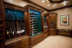 Gunrooms - traditional - home office - little rock - Julian & Sons Traditional Home Offices, Traditional Kitchens, Reloading Room, Gun Vault, Hidden Gun, Gun Rooms, Trophy Rooms, Safe Room, Gun Storage