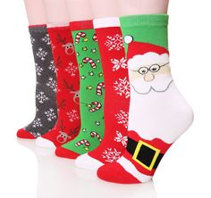 Dosoni Women's Cartoon Animal Novelty Cute Casual Halloween / Christmas Socks - 5 Pack Gift Socks ** You can get additional details at the image link.
