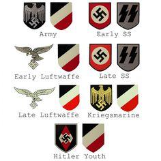 WW2 German Helmet Decals Army Helmet, German Helmet, Ww2 Uniforms, German Army, Military Art, World War, Man Cave, Wwii, Warriors