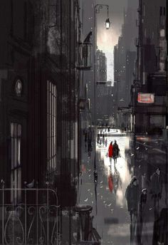 """""""Something New, Something Old"""" by Pascal Campion / DeviantArt Street Art, Pascal Campion, Little Paris, Cute Illustration, Vincent Van Gogh, Anime Comics, Storyboard, Art Pictures, Cute Art"""