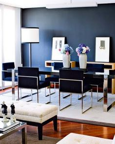 Achados de Decoração blog de decoração, blog de decoração barata, kitinete, quitinete, decoração azul marinho