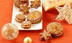 Finis Feinstes - Rezepte - Fini´s Rezepte - Orangen-Nougat-Kekse Strudel, Muffin, Place Card Holders, Cookies, Orange, Breakfast, Desserts, Christmas, Diy