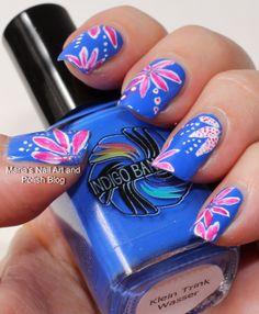 Floral failure nail art nailart, floral nail, blue, nail designs, nail arts