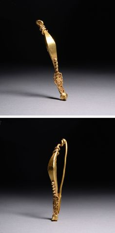 Ancient Roman Celtic La Tene Gold Brooch - 50 BC