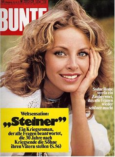 1975: Sydne Rome Sydne Rome, Famous Girls, Most Beautiful Women, Lady, Faces, Watch, Google, Youtube, Vintage