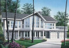 Craftsman House Plan with 3105 Square Feet and 4 Bedrooms from Dream Home Source | House Plan Code DHSW42105