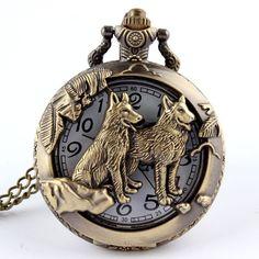 Wolf Quartz Pocket Watch